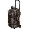 Linds Deluxe 3 Ball Roller Bowling Bag- Black/White