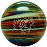 Candlepin Ram Pro Rubber Bowling Ball- Blue/Orange/White