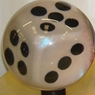 Clear Dice Bowling Ball