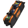 MOTIV Clear View Triple Tote Roller Bowling Bag- Black/Orange