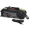 900 Global 3 Ball Airline Tote Roller Bowling Bag- Black/Silver