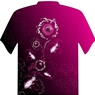 Dye-Sublimated Ladies Pink Bowling T-Shirt