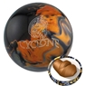 Ebonite Cyclone Bowling Ball- Black/Gold/Silver