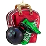 Noble Glass Bowling Bag Ornament
