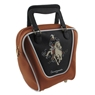 Bowling Bag Cowboy Purse- Brown/Black
