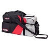 Columbia 300 Triple Tote Roller Bowling Bag with Pouch- Black/Red/Silver