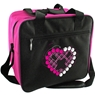 Bowlerstore Heart Single Ball Bowling Bag- Black/Pink