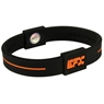 EFX Silicone Sport Wristband- Black/Orange