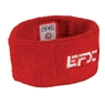 EFX Terry Cloth Sweatband- Red/White