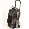 Linds Deluxe 3 Ball Roller Bowling Bag- Black/Silver