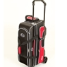 Linds Deluxe 3 Ball Roller Bowling Bag- Black/Red