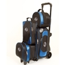 Linds Pro Line 2-3-4 Deluxe Roller Bowling Bag- Black/Blue