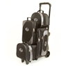 Linds Pro Line 2-3-4 Deluxe Roller Bowling Bag- Black/Silver