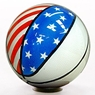 Clear Basketball Flag Bowling Ball