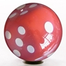Clear Red Hot Dice Bowling Ball