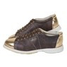 Linds Exxtra2 Mens Bowling Shoes Brown/Gold- Right Hand Wide Width