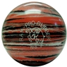 Candlepin Ram Pro Rubber Bowling Ball- Salmon/Charcoal/White