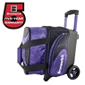 Brunswick Flash X Single Roller Bowling Bag- Purple/Black