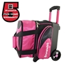 Brunswick Flash X Single Roller Bowling Bag- Pink/Black