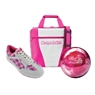 Brunswick Gear White Series Bowling Package- White/Pink