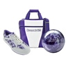 Brunswick Gear White Series Bowling Package- White/Purple