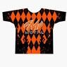 Motiv Bowling Orange Argyle Dye-Sublimated Shirt