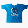 900 Global Bowling Blue Guitar Pick Dye-Sublimated Shirt