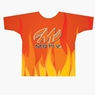 Motiv Bowling Orange Flames 2 Dye-Sublimated Shirt