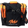 Motiv Deluxe Single Tote Bowling Bag- Black/Orange