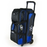 Elite Dimension Limited Edition Deluxe Triple Roller Bowling Bag- Black/Blue