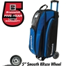 Brunswick Razor Triple Roller Bowling Bag- Royal