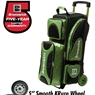 Brunswick Flash X Triple Roller Bowling Bag- Lime/Black