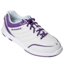 Brunswick Ladies Diamond Bowling Shoes- White/Purple