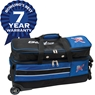 KR Strikeforce Royal Flush Slim Triple Roller Bowling Bag Holds Shoes