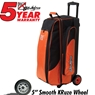 KR Cruiser Smooth Triple Roller Bowling Bag- Orange