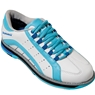 Brunswick Ladies Raven Bowling Shoes- White/Light Blue/Royal
