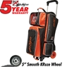 KR Orange Krush Triple Roller Deluxe Bowling Bag