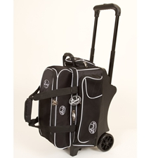 Linds Bowling Balls & Bags Linds Deluxe 2 Ball Roller Bowling Bag- Black/White at Sears.com