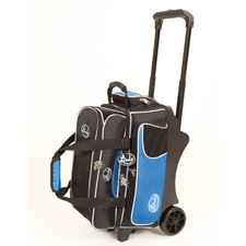 Linds Bowling Balls & Bags Linds Deluxe 2 Ball Roller Bowling Bag- Black/Blue at Sears.com