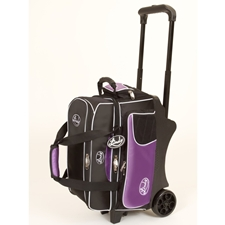 Linds Bowling Balls & Bags Linds Deluxe 2 Ball Roller Bowling Bag- Black/Purple at Sears.com