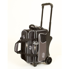 Linds Bowling Balls & Bags Linds Deluxe 2 Ball Roller Bowling Bag- Black/Silver at Sears.com