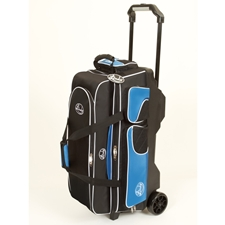 Linds Bowling Balls & Bags Linds Deluxe 3 Ball Roller Bowling Bag- Black/Blue at Sears.com