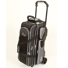 Linds Bowling Balls & Bags Linds Deluxe 3 Ball Roller Bowling Bag- Black/Silver at Sears.com