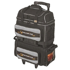 Storm Bowling Products Storm Streamline 4 Ball Roller Bowling Bag- Black/Silver at Sears.com