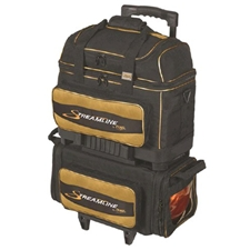 Storm Bowling Products Storm Streamline 4 Ball Roller Bowling Bag- Black/Gold at Sears.com