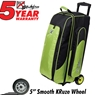 KR Cruiser Smooth Triple Roller Bowling Bag- Lime