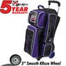 KR Krush Triple Roller Deluxe Bowling Bag- Purple/Black