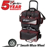 KR Lane Rover 4 Ball Bowling Bag- Black/Silver/Red