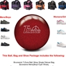 Brunswick T-Zone Candy Apple Red Bowling Ball, KR Strikeforce Shoe and Moxy Bag Package