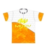 Motiv Bowling Dye-Sublimated Jersey- White/Orange/Yellow